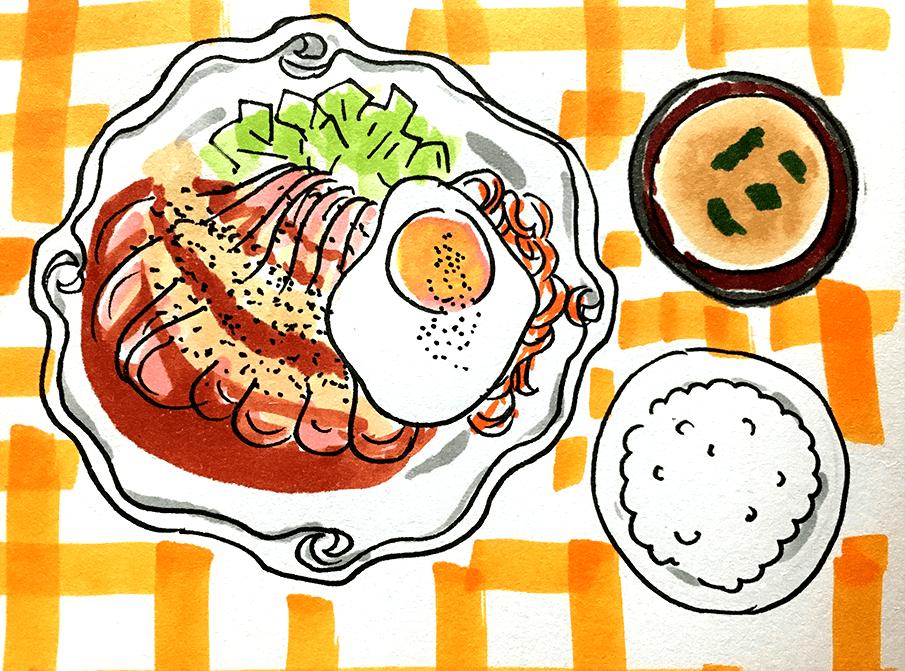 ROMMYローストポーク定食