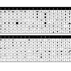 装飾フォント一覧PDFサムネイル